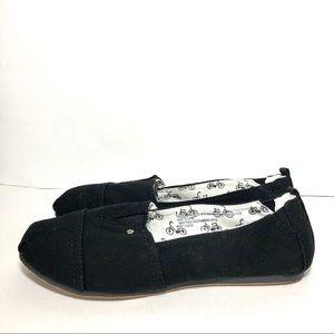 Mad Love Lydia Black Slip On Canvas Loafers Sz9